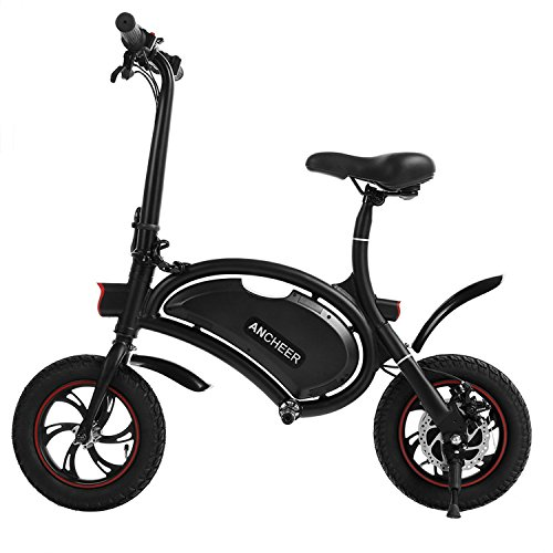 ANCHEER Folding Electric Bicycle E-Bike Scooter 350W Powerful Motor Waterproof Ebike with 12 Mil ...