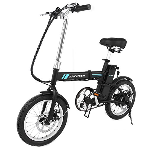 ANCHEER Folding Electric Bike, 16 Inch Collapsible Electric Commute Bike Ebike With 36V 6Ah Lith ...