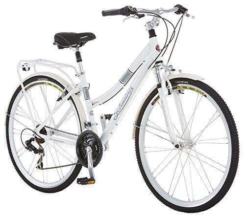 Schwinn Discover Women's Hybrid Bike (700C Wheels),White,28″