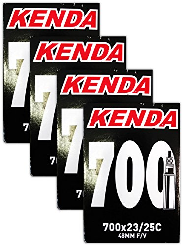 Kenda 700×23-25c Bicycle Inner Tubes – 48mm Long Presta Valve – FOUR (4) PACK