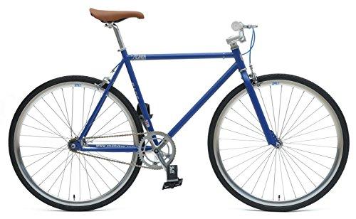 Chill Bikes Single-Speed Commuter Fixie Bike, 53cm/Large, Blue/Silver