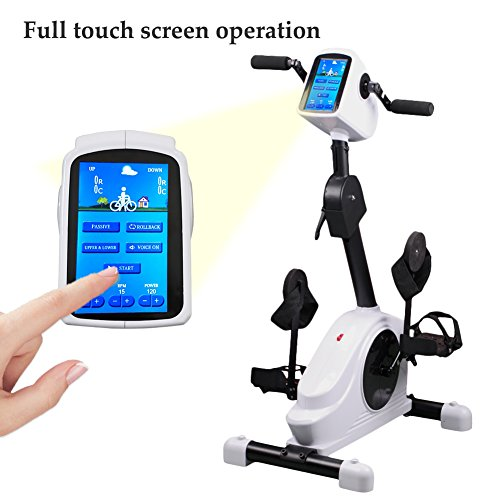 Electronic Physical Therapy Rehab Training Equipment Cycle Arm Leg Pedal Exerciser Bike Health R ...