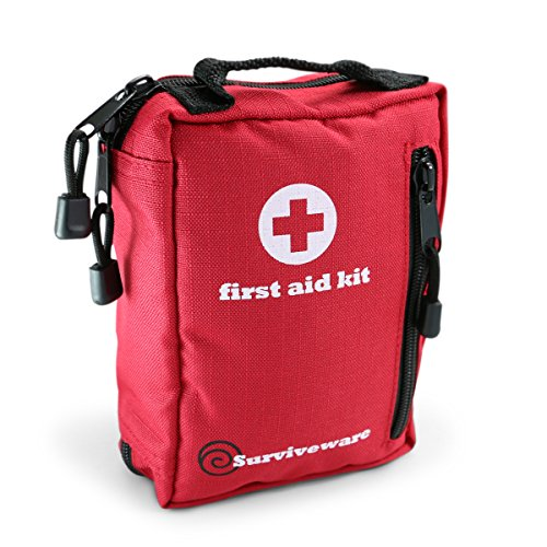 Small First Aid Kit for Hiking, Backpacking, Camping, Travel, Car & Cycling. With Waterproof ...