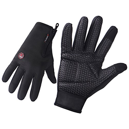 Cycling Gloves, Wheel Up Waterproof Touchscreen Gloves Anti-skid Warm Protection for Winter Outd ...