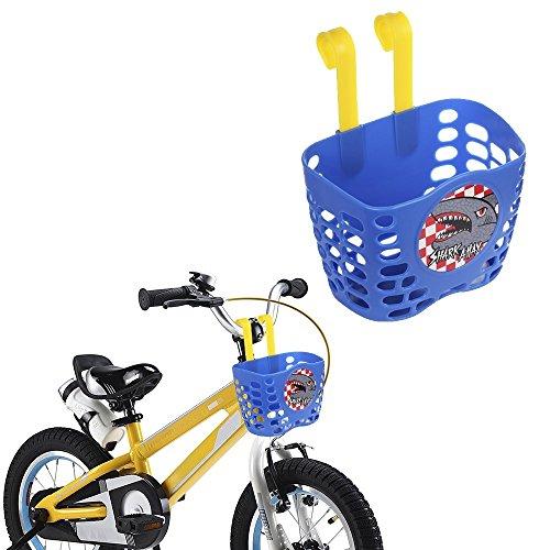 Kid's Bike Basket, Mini-Factory Cute Cartoon Shark Attax Pattern Bicycle Handlebar Basket  ...