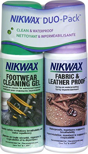 Nikwax Footwear Twin Pack Spray Bottles Fabric / Leather Cleaning Gel 4.2oz