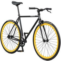Pure Fix Original Fixed Gear Single Speed Bicycle, Yankee Matte Black/Yellow, 54cm/Medium