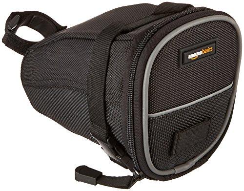 AmazonBasics Strap-On Wedge Saddle Bag for Cycling – Medium