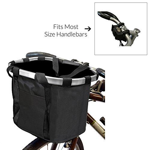 MyGift Multi Purpose Black Bicycle Basket Carrier / Car Organizer with Drawstring Closure &  ...