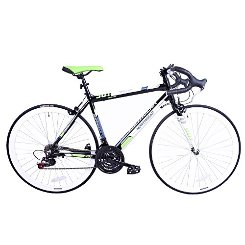 North Gear 901 21 Speed Road / Racing Bike with Shimano Components – Black