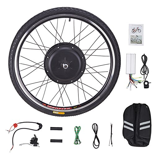 Pinty FT1010 26″ Front Wheel 48V 1000W Ebike Hub Motor Conversion Kit with Dual Mode Contr ...