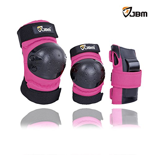 JBM Adult / Child Knee Pads Elbow Pads Wrist Guards 3 In 1 Protective Gear Set For Multi Sports  ...
