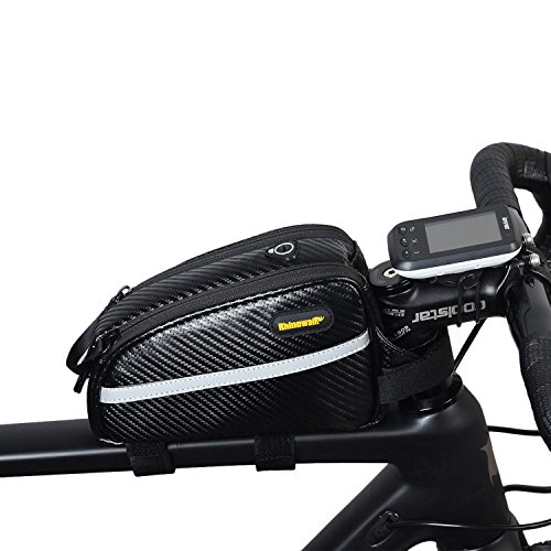 Waterproof Bike Top Tube Bag Front Frame Bag Double Zipper Design Bicycle Bag Professional Bicyc ...