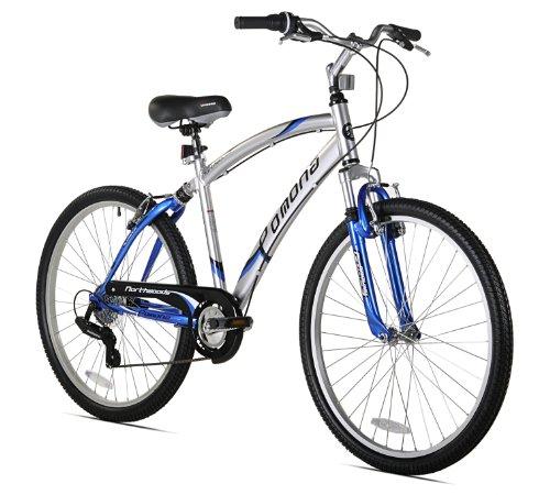 Northwoods Pomona Men's Dual Suspension Comfort Bike, 26-Inch