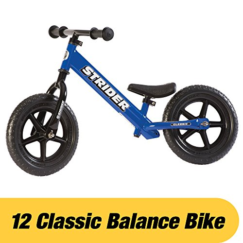 Strider – 12 Classic Balance Bike, Ages 18 Months to 3 Years, Blue