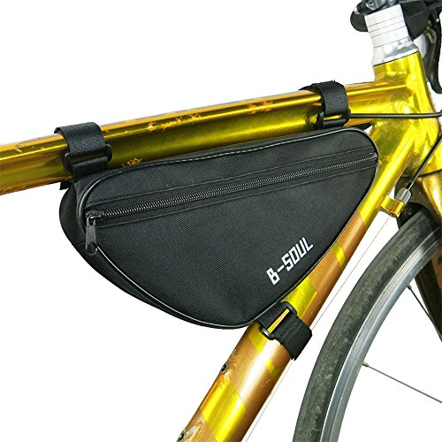 BIYLACLESEN Bicycle Cycling Ride Pouch Top Tube Triangle Frame-Pack Bike Bag,Black