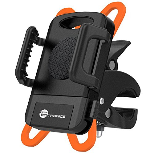 TaoTronics Bike Phone Mount Bicycle Holder, Universal Cradle Clamp for iOS Android Smartphone, B ...