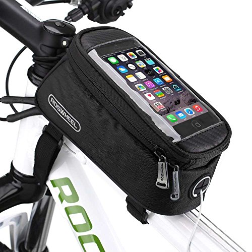 Bicycle Bike Frame Front Tube Beam Bag Transparent PVC Cycling Pannier Pouch Basket for 5.5 inch ...