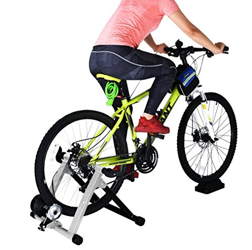 8 Levels Magnetic Resistance Indoor Bike Trainer Quiet Smooth Pedaling Bicycle Exercise Trainer  ...