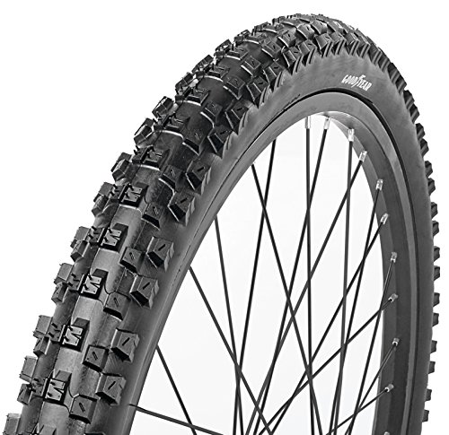 Goodyear Folding Bead Mountain Bike Tire, 24″ x 2/2.125″, Black