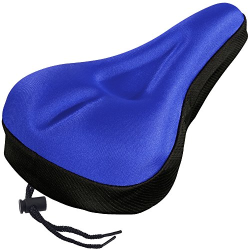 Zacro Gel Bike Seat, Extra Soft Bicycle Seat, Saddle Cushion with Black Water and Dust Resistant ...