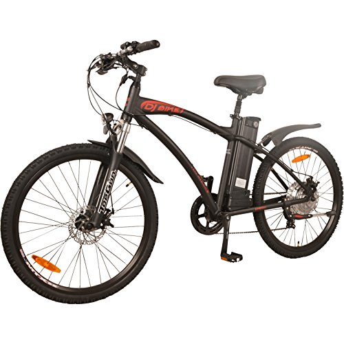 DJ Mountain Bike 500W 48V 13Ah Power Electric Bicycle, Samsung Lithium-Ion Battery, 7 Speed, Mat ...