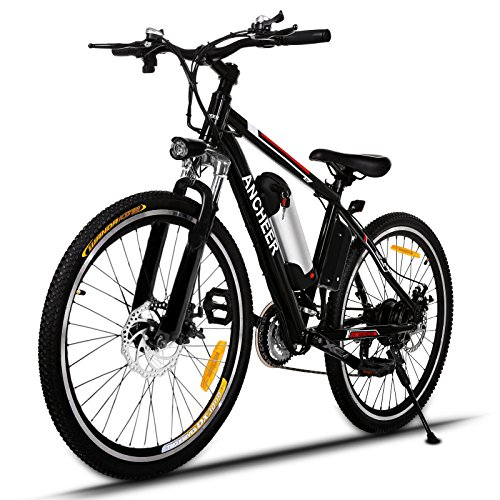 ANCHEER Electric Mountain Bike with 36V, 8AH Removable Lithium-Ion Battery 250W Electric Bike fo ...
