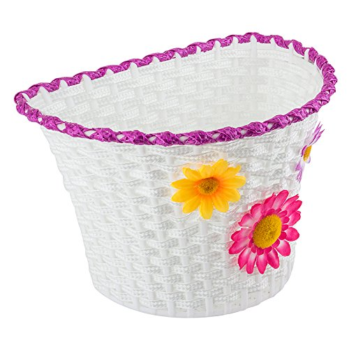 Sunlite Classic Flower Basket, 10″ x 6.5″ x 6.25″, White
