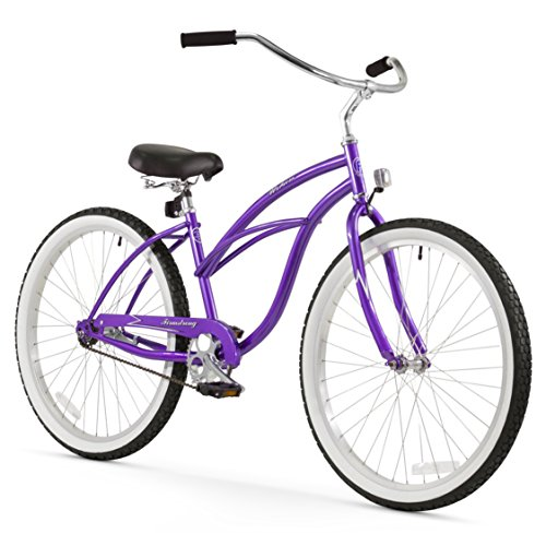 Firmstrong Urban Lady Single Speed – Women's 26″ Beach Cruiser Bike (Purple)