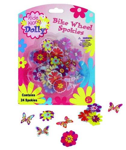 Bike Wheel Spokies – Ride Along Dolly Flower Wheel Spoke Attachments (24 pcs – 12 Di ...
