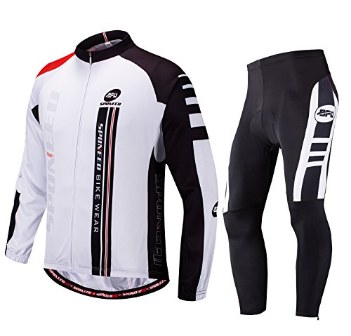 Sponeed Cycling Clothes for Men Bike Jersey Pants Padding Road Bike Shirt Jacket Outdoor Cycle W ...