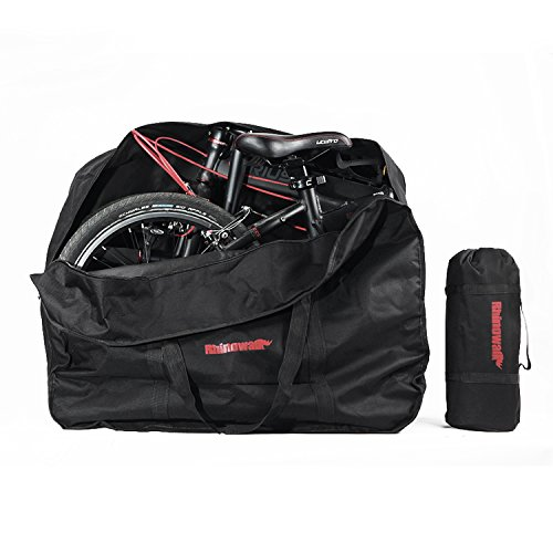 Huntvp Bike Travel Bag Case Box Thick Bicycle Folding Carry Bag Pouch,Bike Transport Case for Ai ...