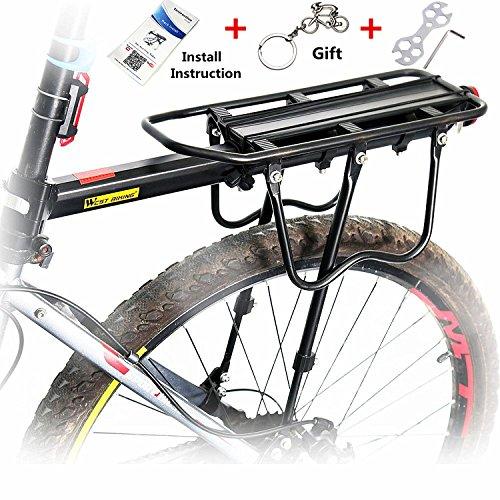West Biking 110 Lb Capacity Almost Universal Adjustable Bike Cargo Rack Cycling Equipment Stand  ...
