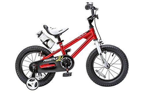 Royalbaby RB14B-6R BMX Freestyle Kids Bike, Boy's Bikes and Girl's Bikes with traini ...