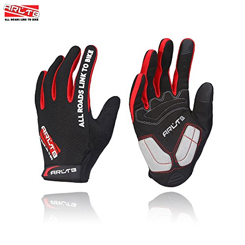 Arltb 3 Size Winter Bike Gloves 3 Colors Bicycle Cycling Biking Gloves Mitts Full Finger Pad Bre ...