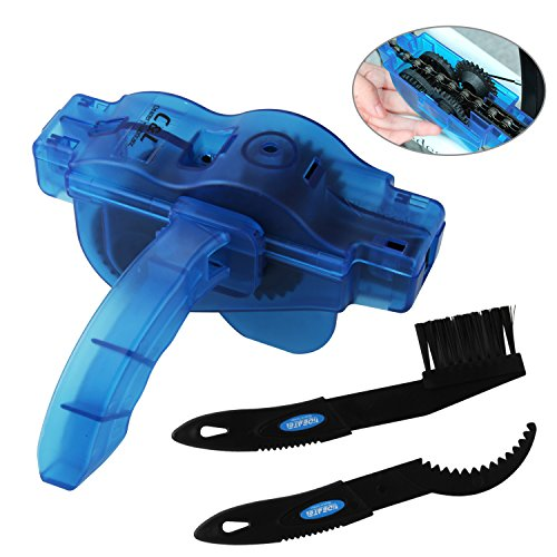 Bike Chain Cleaner, KKtick Bike Chain Cleaning Tool With Rotating Brushes Bicycle Maintenance Cl ...