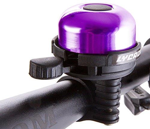 LYCAON Bicycle Bell Mini Aluminum Alloy Bike Ring Loud Crisp Clear Sound Horn Bike Accessories f ...
