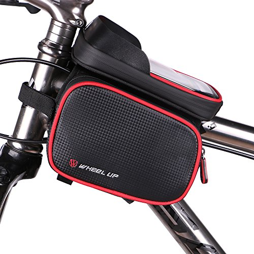 Bike Bag, WAGOLO Waterproof Universal Cycling Bicycle Frame Bags Phone Mount Holder For Cellphon ...