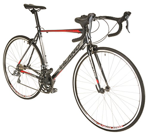 Vilano FORZA 4.0 Aluminum Integrated Shifters Road Bike, Black, 53cm/Medium