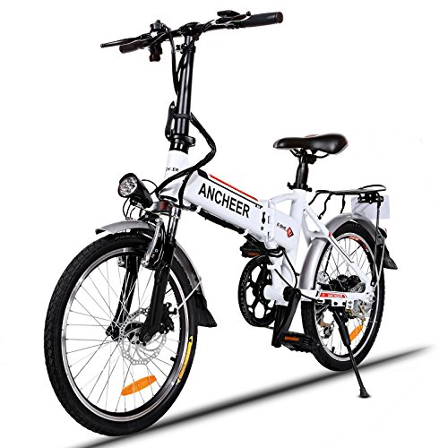 ANCHEER Folding Electric Bike with 36V 8AH Removable Lithium-Ion Battery Lightweight Electric Ci ...