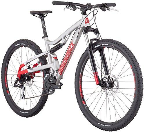 Diamondback Bicycles Recoil 29er Full Suspension Mountain Bike, Light Silver, 18″/Medium