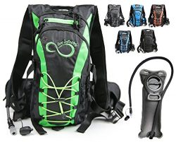 Hydration Backpack With 2.0L TPU Leak Proof Water Bladder- 600D Polyester -Adjustable Padded Sho ...