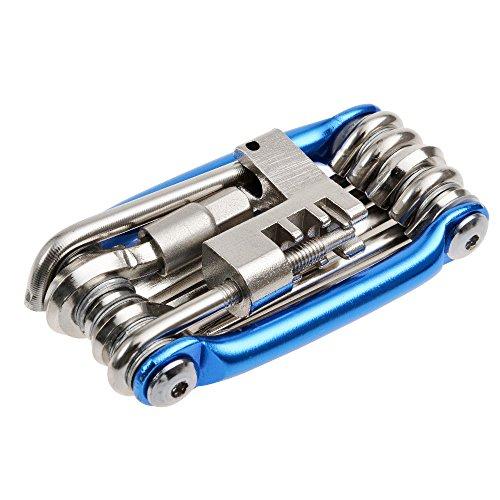 PGMJ All-in-1 Pocket Bike Toolkit Multi Repair Tools Kit Wrench Bike Repair Tools (Blue)