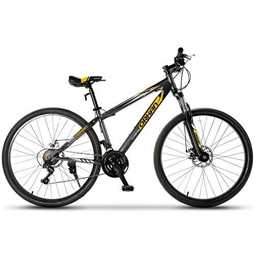 ORKAN 27.5″ Men's Mountain Bike 21 Speed Bicycle Shimano Hybrid Black & Yellow