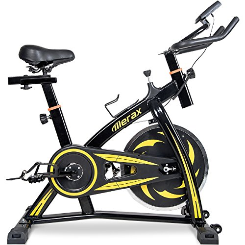 Merax indoor Cycling Bike Cycle Trainer Exercise Bicycle (Yellow.)