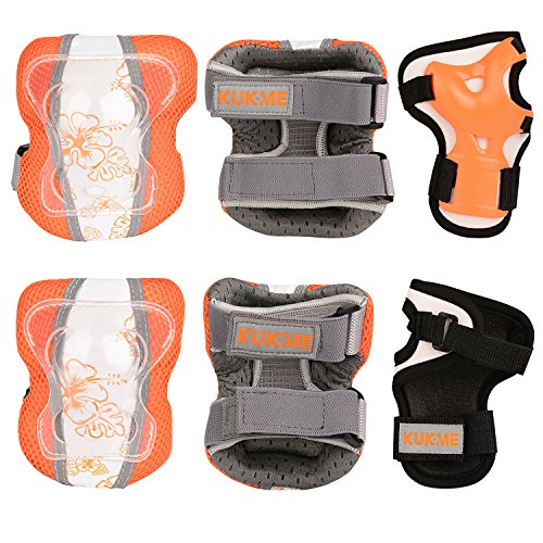 Sports Protective Gear safety pad Safeguard (Knee Elbow Wrist) Support Pad Set equipment for Adu ...