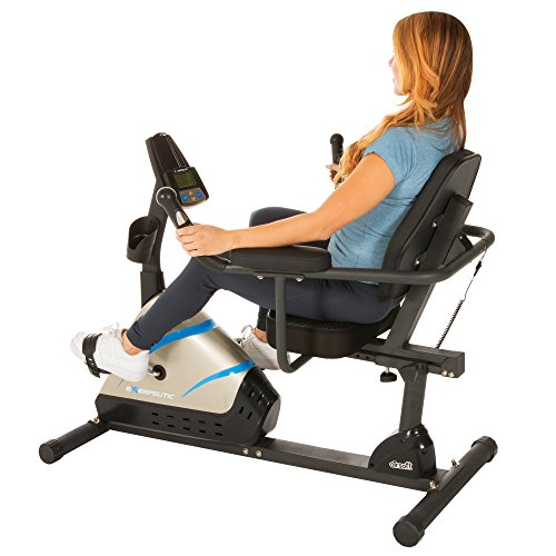 Exerpeutic 2000 High Capacity Programmable Magnetic Recumbent Bike with Air Soft Seat and Heart  ...