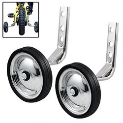 Little World Training Wheels Heavy Duty Rear Wheel Bicycle Stabilizers Mounted Kit Compatible fo ...