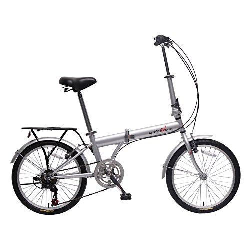 unYOUsual U transformer 20″ Folding City Bike Bicycle 6 Speed Shimano Gear Steel Frame Mud ...