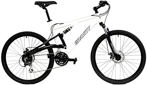 2018 Gravity FSX 1.0 Dual Full Suspension Mountain Bike with Disc Brakes, Shimano Shifting (Whit ...